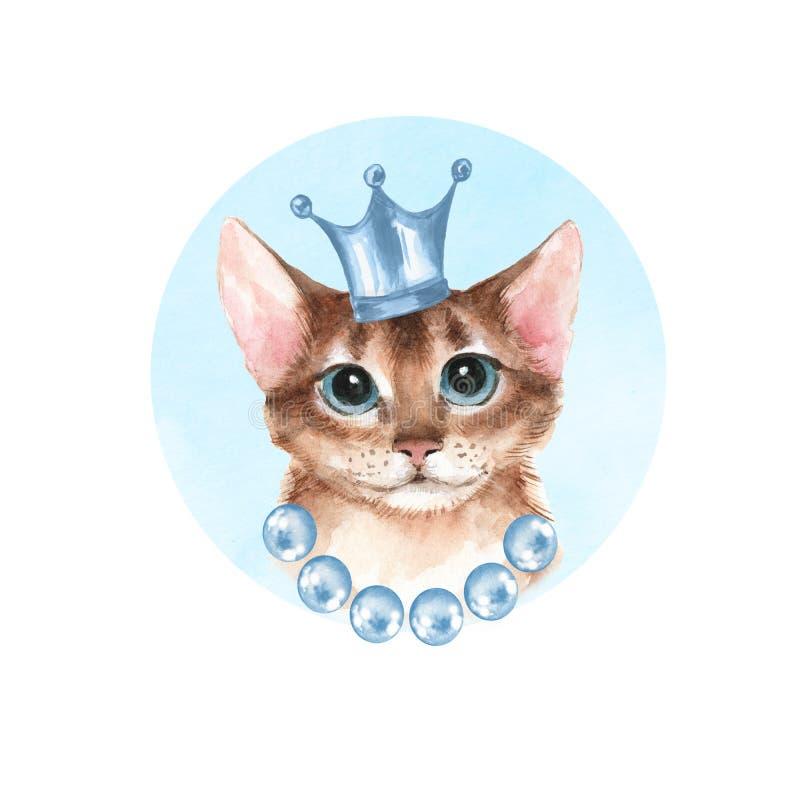Кот в голубой кроне бесплатная иллюстрация