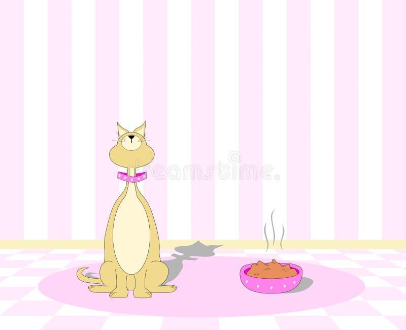 кот ест picky отказывать к иллюстрация штока