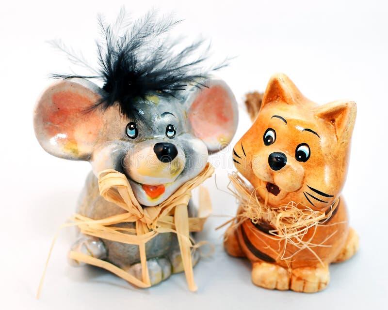 Кот и мышь стоковые фотографии rf