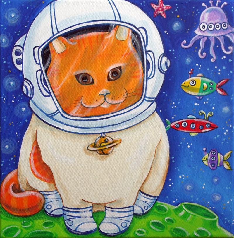 Кот космоса бесплатная иллюстрация