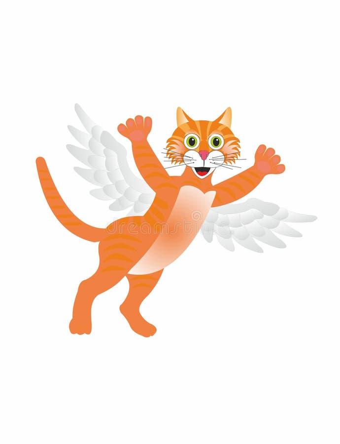 Кот летания иллюстрация вектора