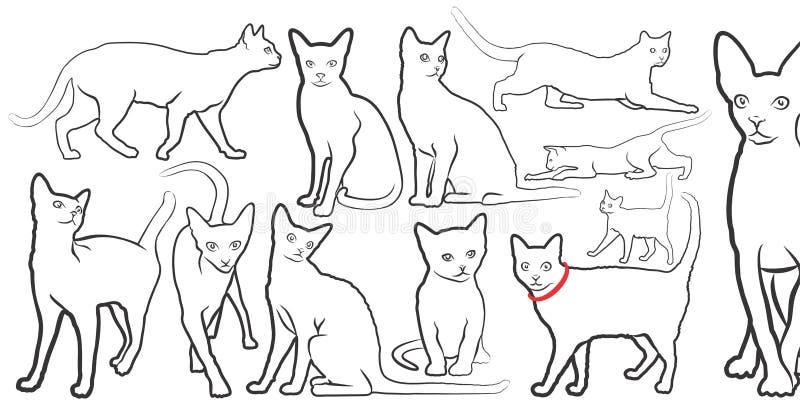 Кот иллюстрация штока