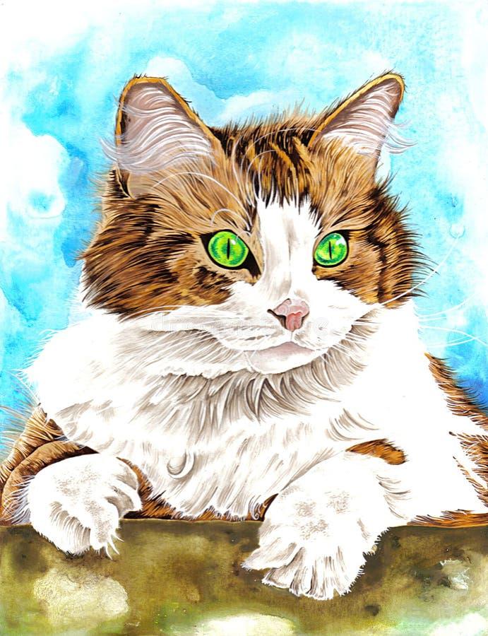 Download кот иллюстрация штока. иллюстрации насчитывающей кошачий - 79280