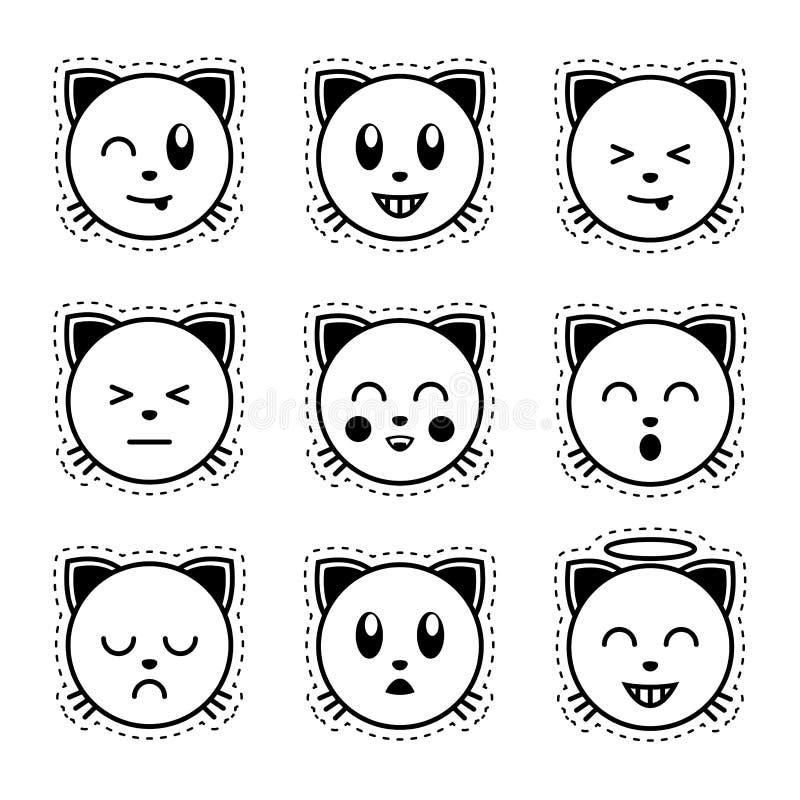 картинки для наклеек черно белые распечатать смайлики