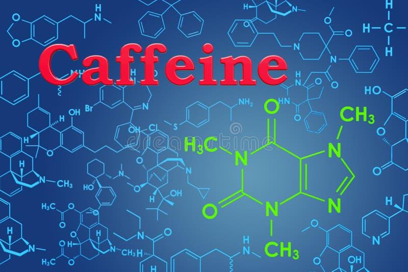 кофеин Химическая формула, молекулярная структура перевод 3d бесплатная иллюстрация