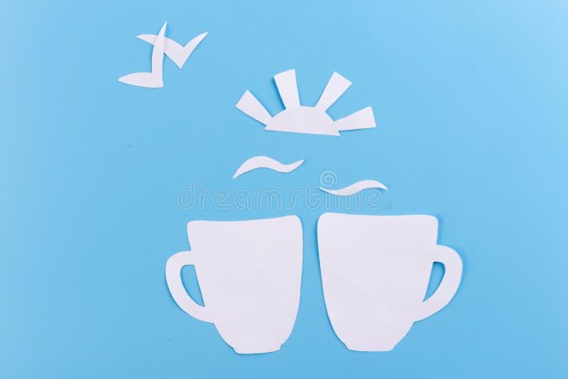 кофейная чашка в утре стоковая фотография