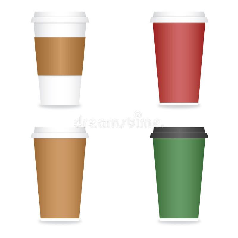 кофейная чашка идет бумага к бесплатная иллюстрация
