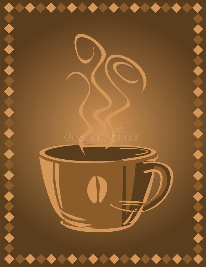 кофейная чашка предпосылки иллюстрация штока