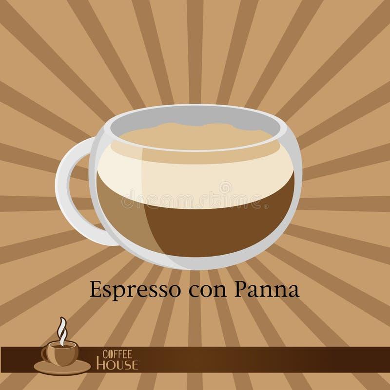 кофейная чашка предпосылки коричневая иллюстрация вектора