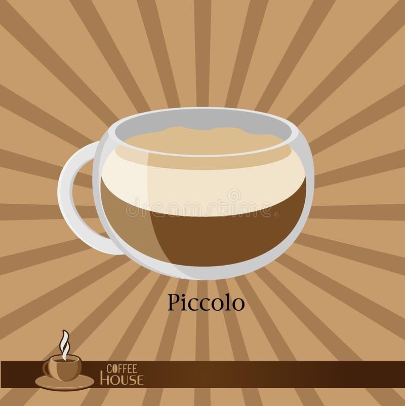 кофейная чашка предпосылки коричневая иллюстрация штока