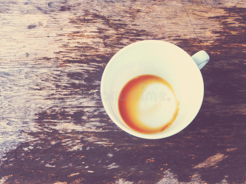 кофейная чашка пустая стоковое изображение