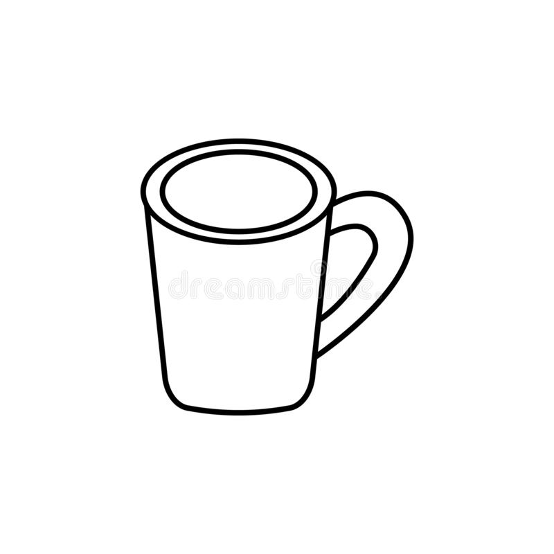 Кофейная чашка, случайный значок обеда Смогите быть использовано для сети, логотипа, мобильного приложения, UI, UX иллюстрация штока