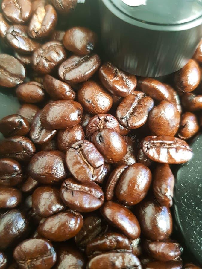 Кофейное зерно в машине стоковое фото rf