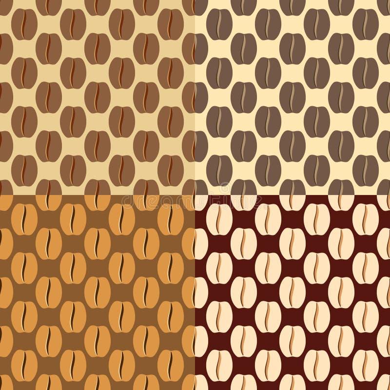 Кофейные зерна Брайна, безшовная картина бесплатная иллюстрация
