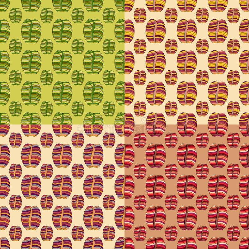 Кофейные зерна Брайна, безшовная картина иллюстрация штока