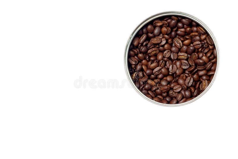 Кофейные зерна в форме круга стоковое изображение