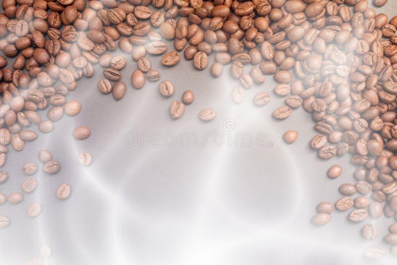 Кофейные зерна крупного плана стоковое изображение