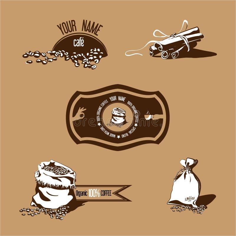 Кофейные зерна & циннамон стоковое изображение rf