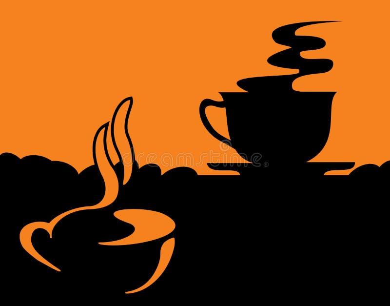 кофейные чашки бесплатная иллюстрация
