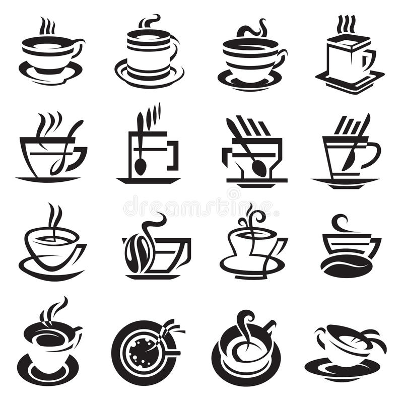 кофейные чашки иллюстрация штока