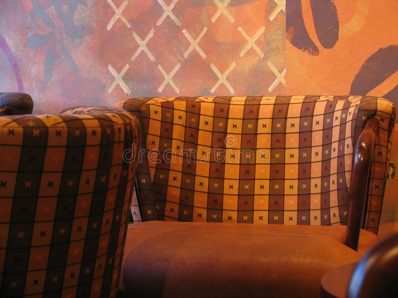 кофейня стула стоковое фото rf