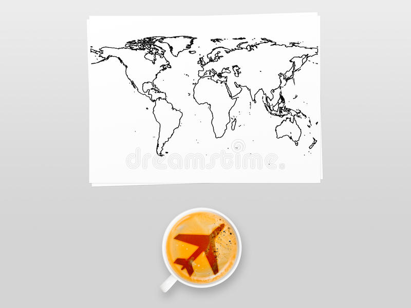 Download Кофе авиапорта стоковое фото. изображение насчитывающей стол - 33738994