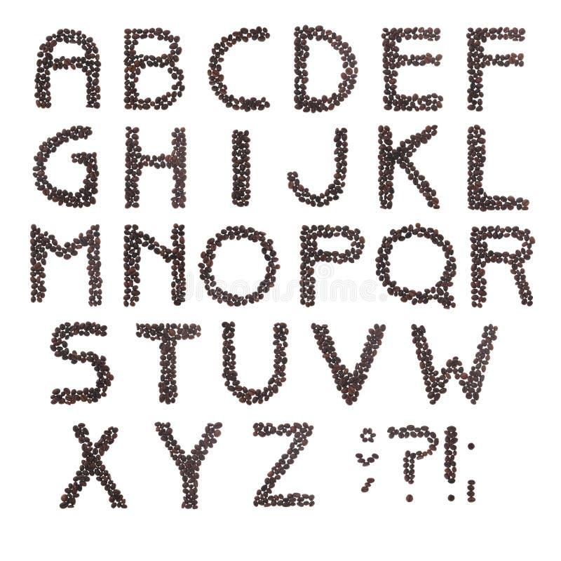 кофе алфавита стоковая фотография rf