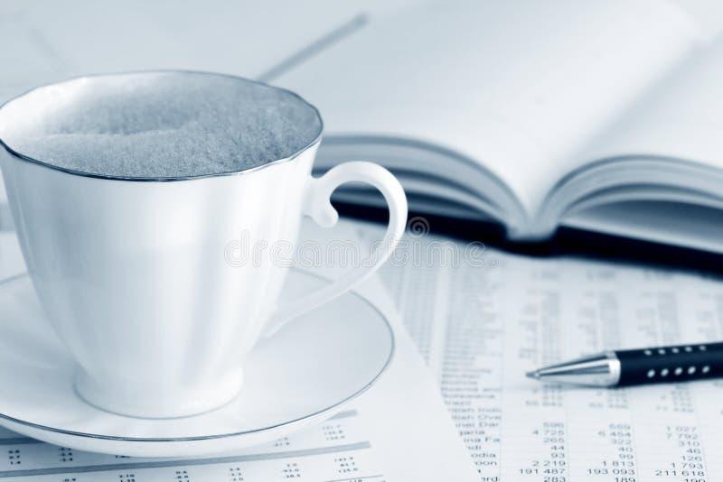 кофе бухгалтерии стоковое изображение rf