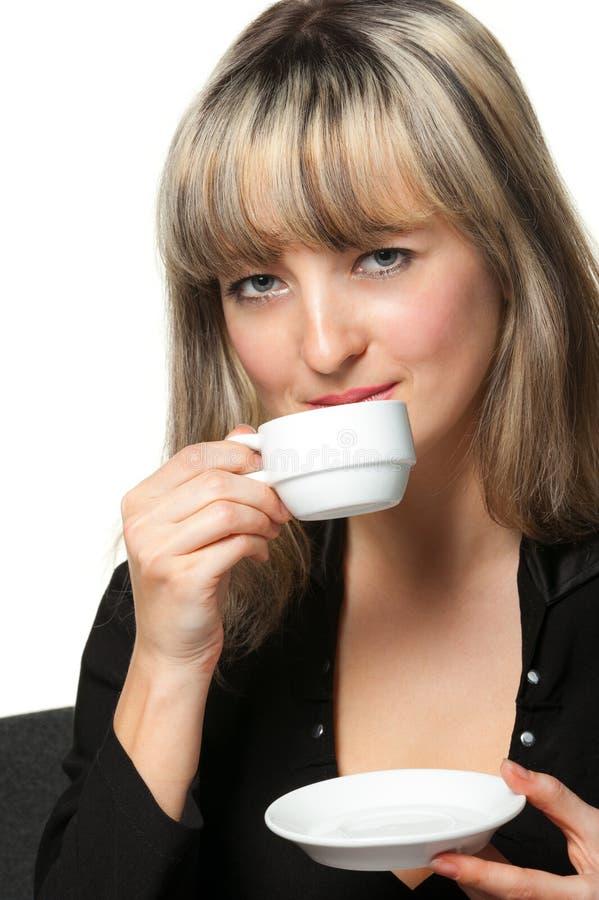 кофе дела выпивает рабочее место женщины стоковые фото