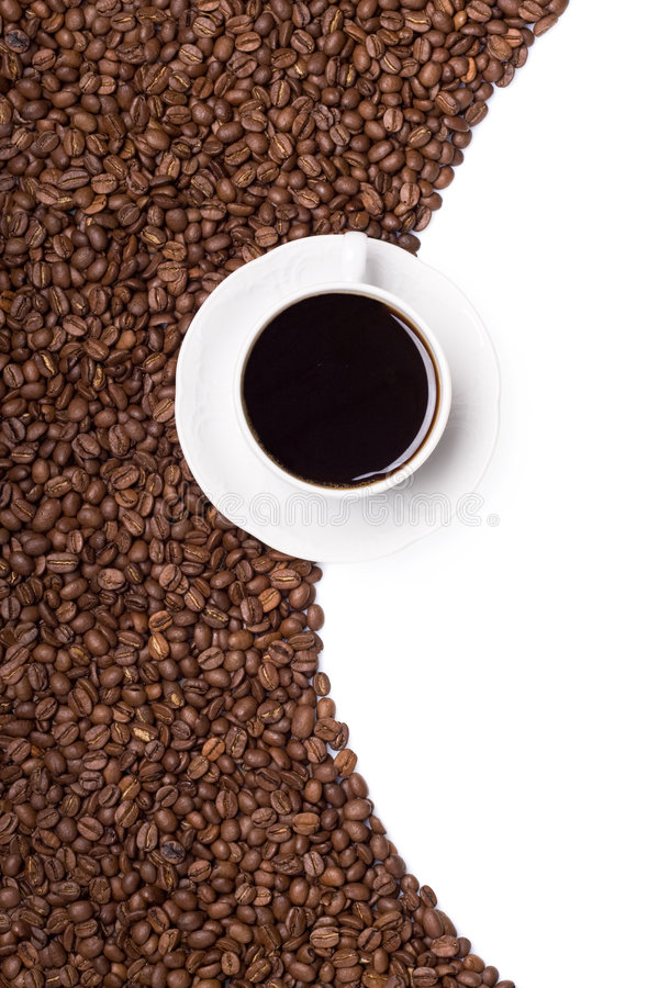 кофе знамени стоковое фото