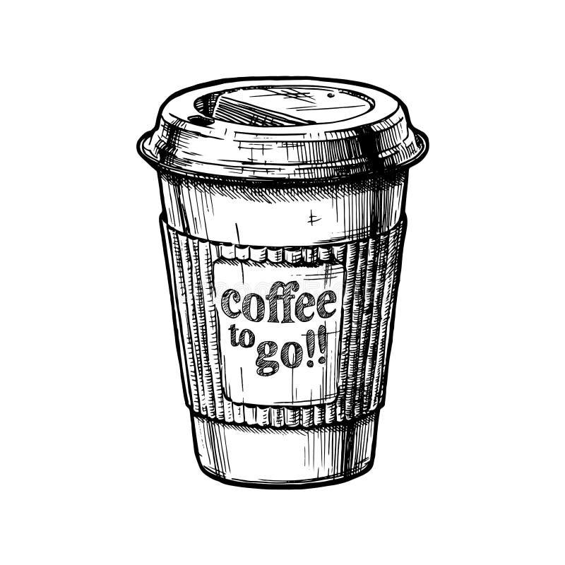 кофе идет к иллюстрация вектора