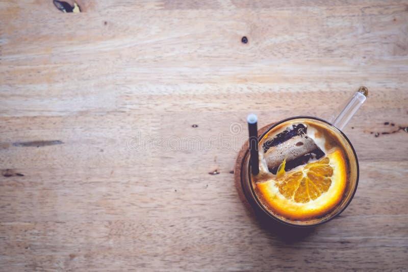 Кофе и апельсин стоковая фотография rf