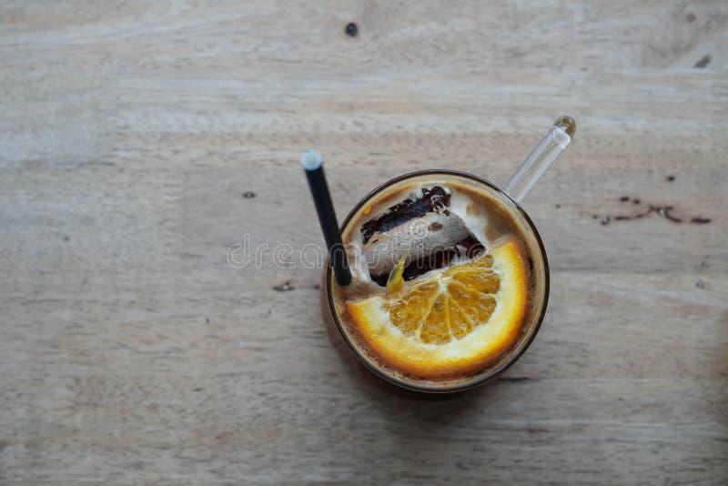 Кофе и апельсин стоковые фотографии rf