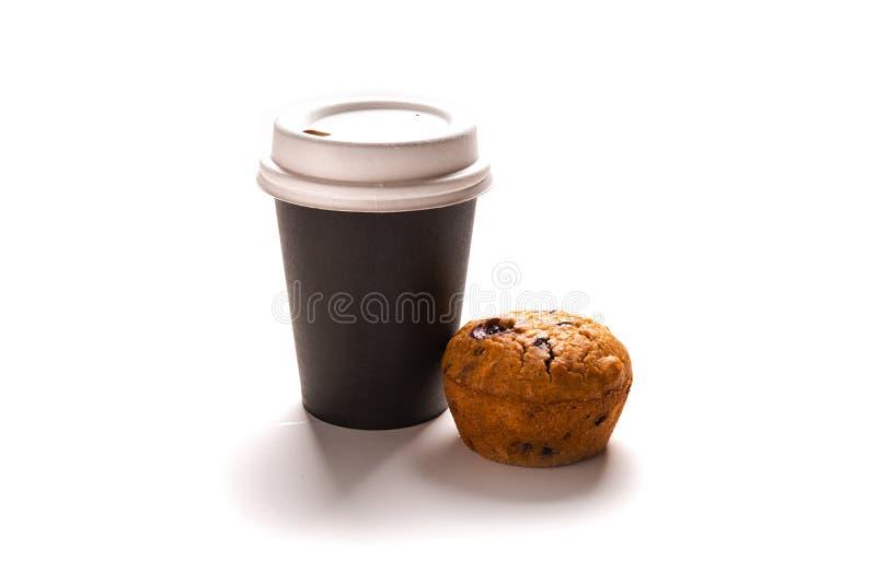 Кофе и булочка стоковая фотография rf