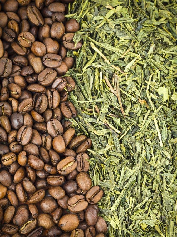 Кофе и зеленый чай стоковая фотография rf