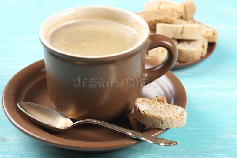 Кофе и печенья стоковые изображения rf