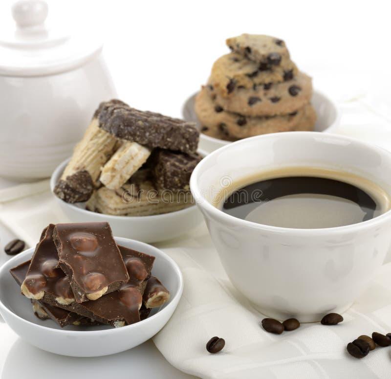 Кофе и помадки стоковые изображения