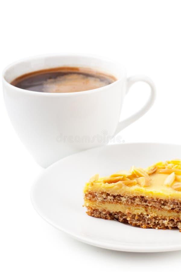 Кофе и расстегай стоковое изображение
