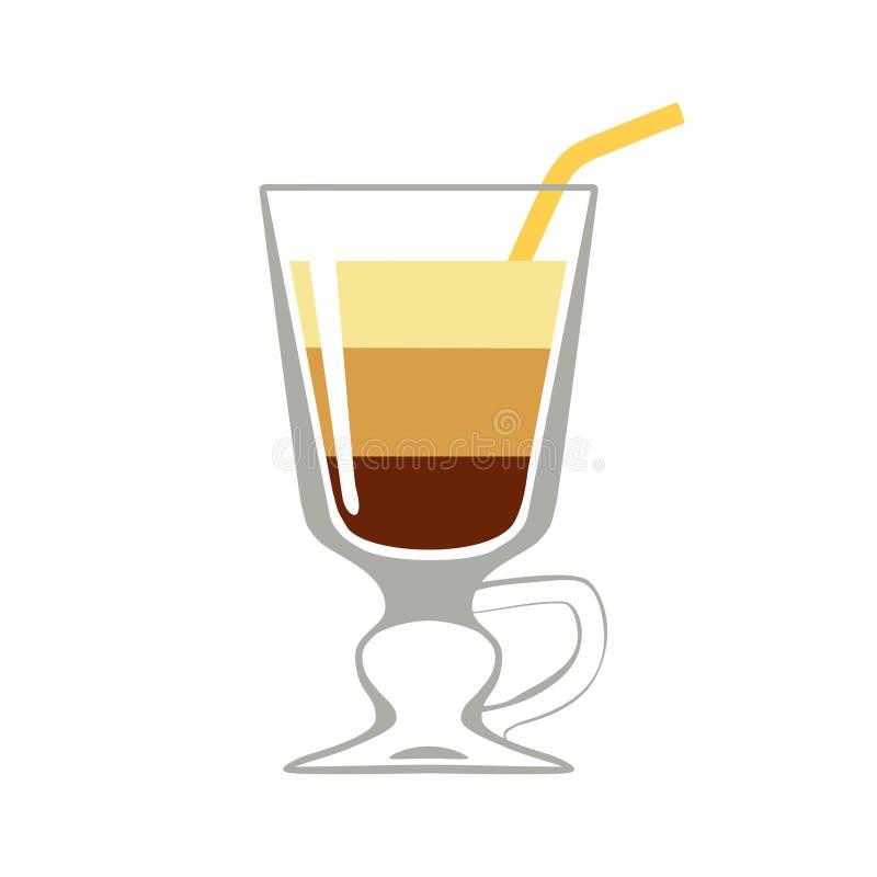 Кофе коктейля изолированный на белой предпосылке иллюстрация вектора