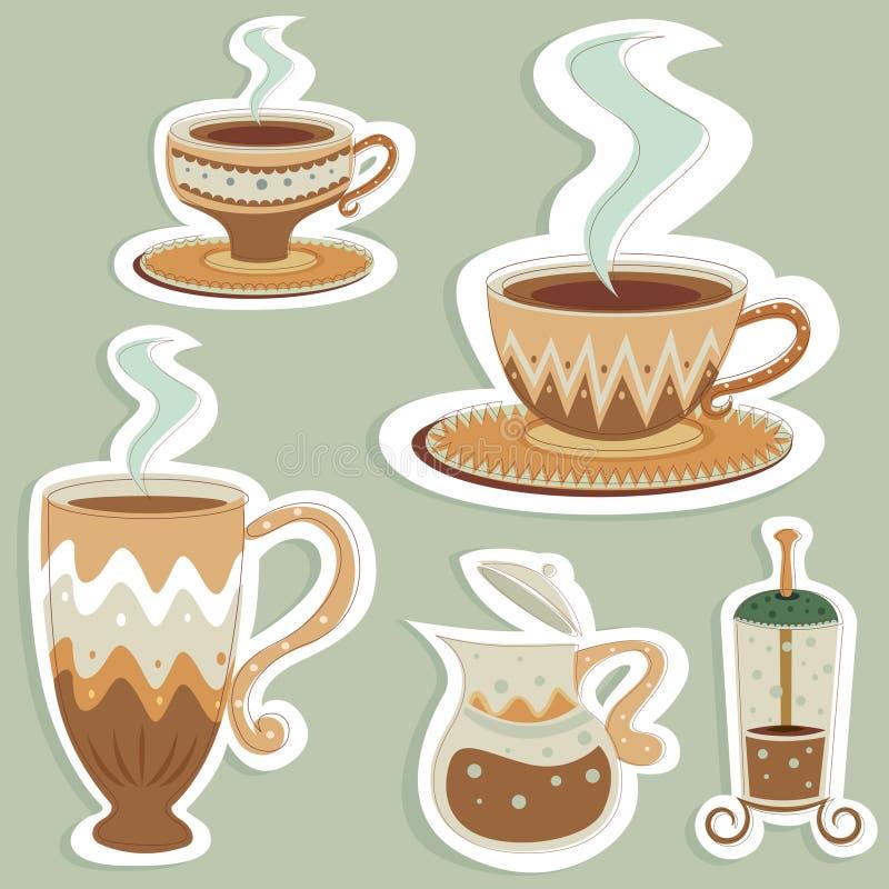 кофе конструирует вектор иллюстрация штока