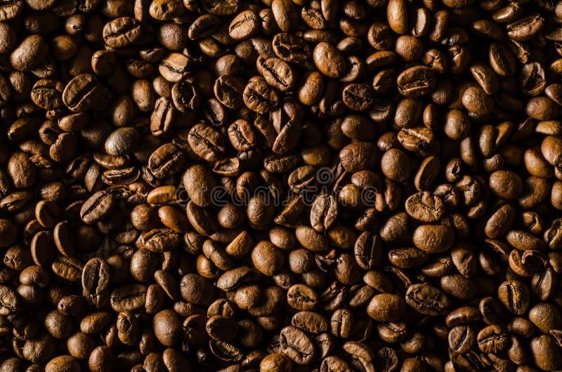 кофе конца коричневого цвета фасолей вверх стоковое изображение rf