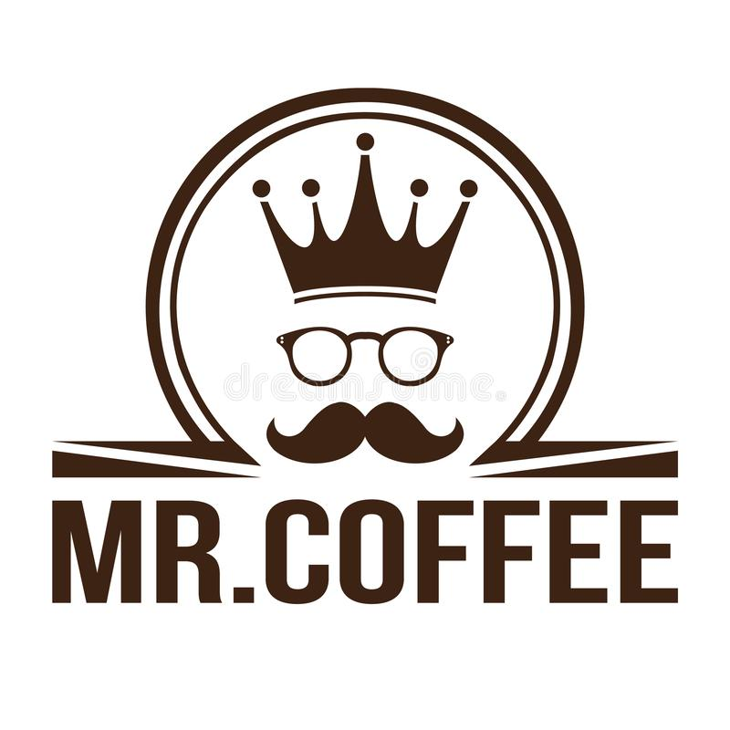 Кофе короля логотипа иллюстрация штока