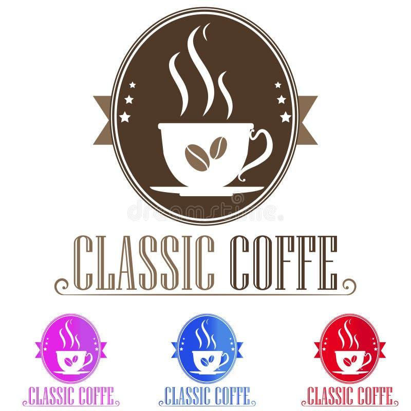 Кофе логотипа иллюстрация штока