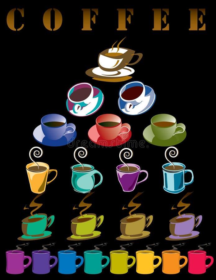 кофе предпосылки иллюстрация штока