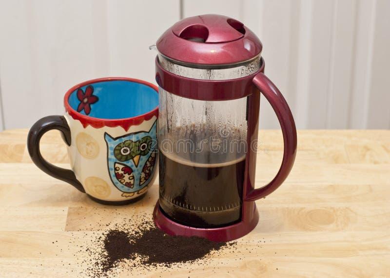 Кофе прессы француза стоковая фотография rf
