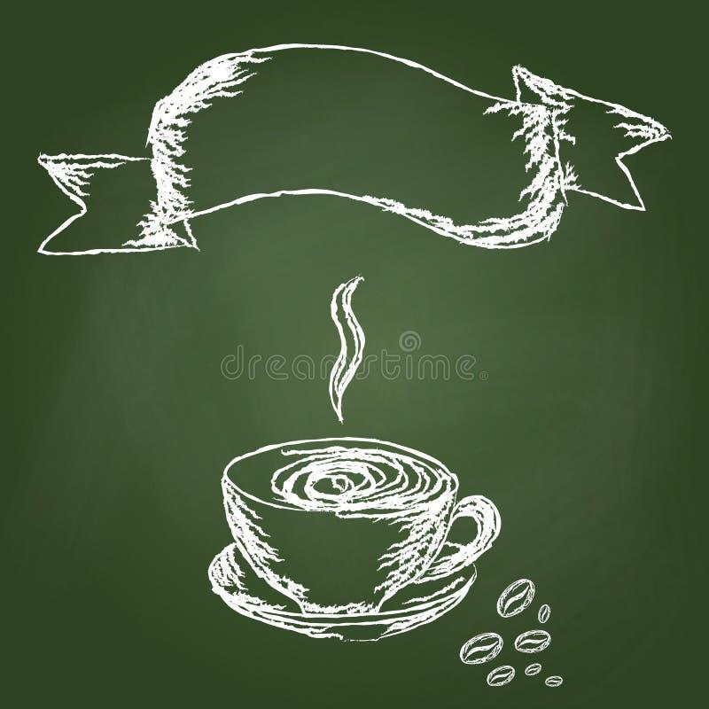 Кофе притяжки руки иллюстрация вектора