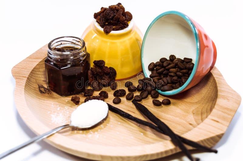 Кофе, сахар и варенье стоковые фотографии rf
