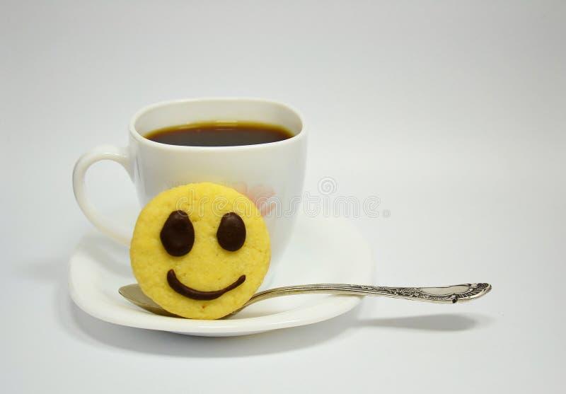 Кофе улыбки стоковая фотография rf