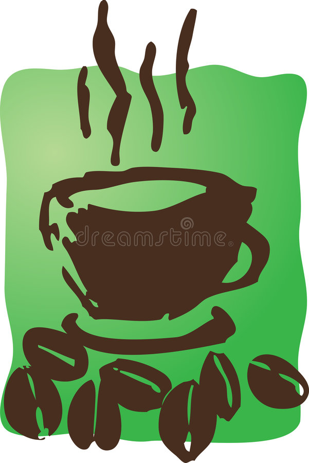 кофе фасолей иллюстрация вектора