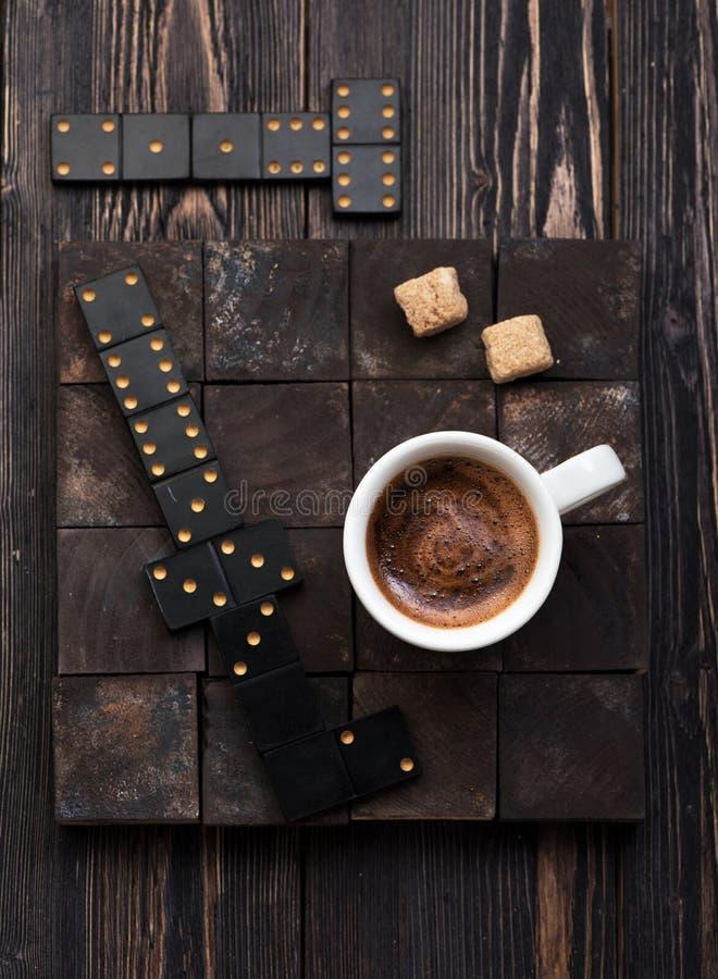Кофе чашки с сахаром стоковые изображения